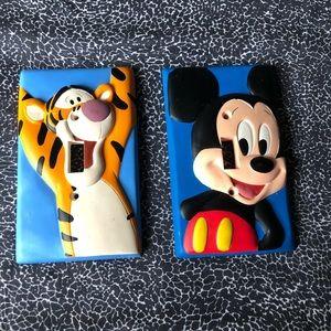 Pair Disney Light Switch Covers - Mickey & Tigger
